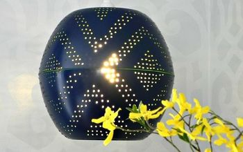 #WestElmKnockoffs Perforated Globe Pendant Light
