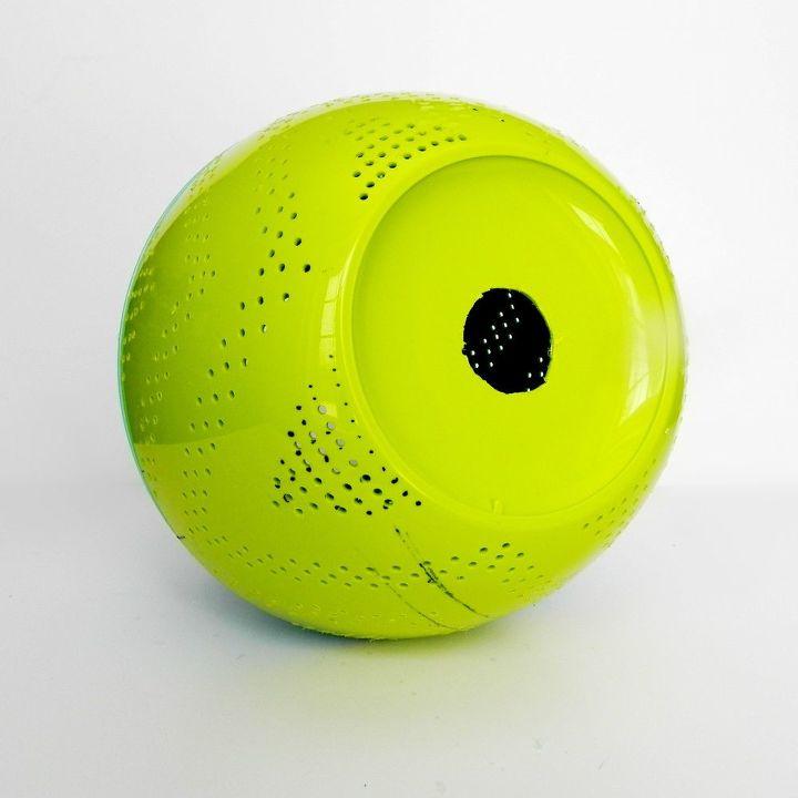 westelmknockoffs perforated globe pendant light, diy, home decor, lighting, repurposing upcycling