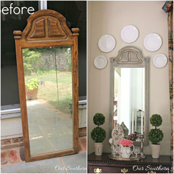 s 13 brilliant things you can make from common thrift store finds, crafts, repurposing upcycling, From a Tired Mirror