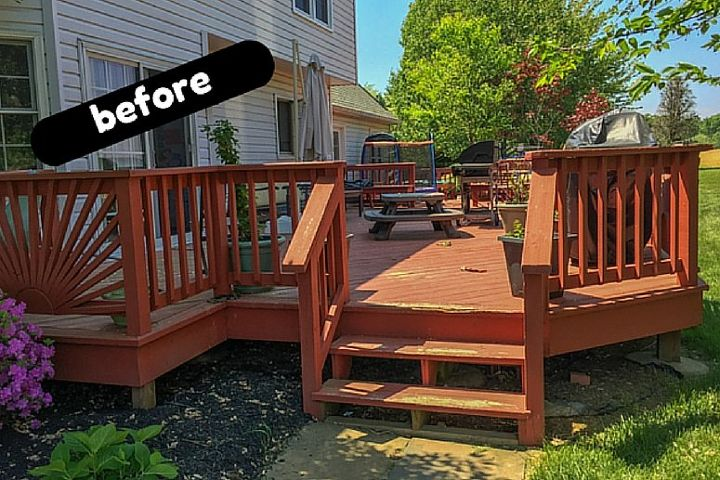 deck cover a diy outdoor space makeover story, decks, diy, outdoor living, painting