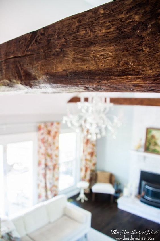 faux beams a faux real way to add rustic charm to any space, bedroom ideas, diy, how to, living room ideas, wall decor