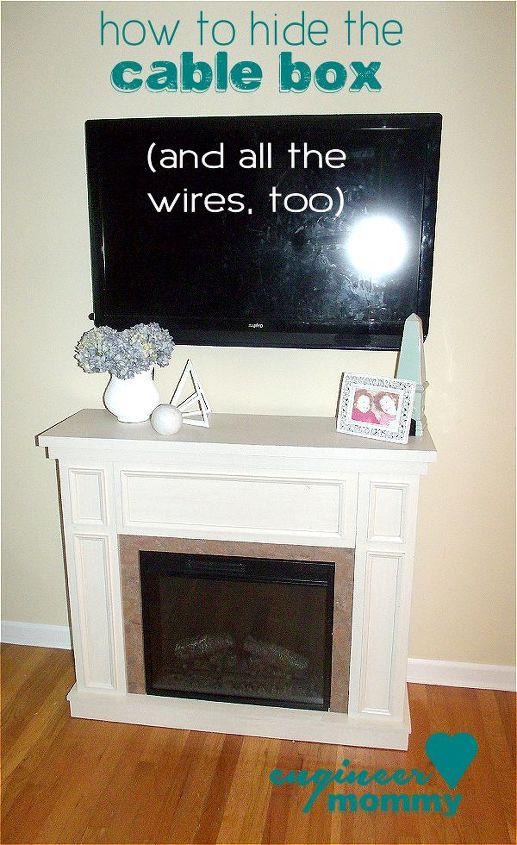 how to hide the cable box, electrical, home decor, how to, wall decor