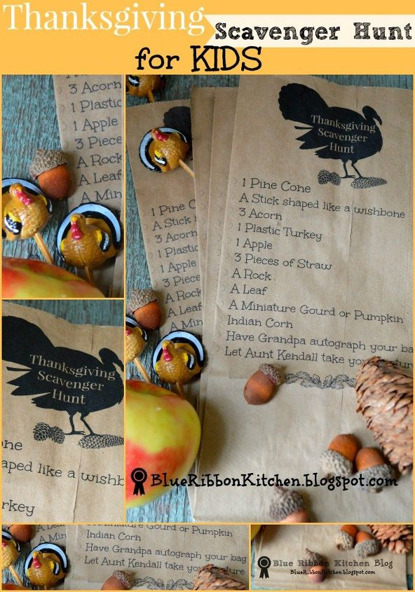 fun thanksgiving scavenger hunt for kids, crafts, thanksgiving decorations