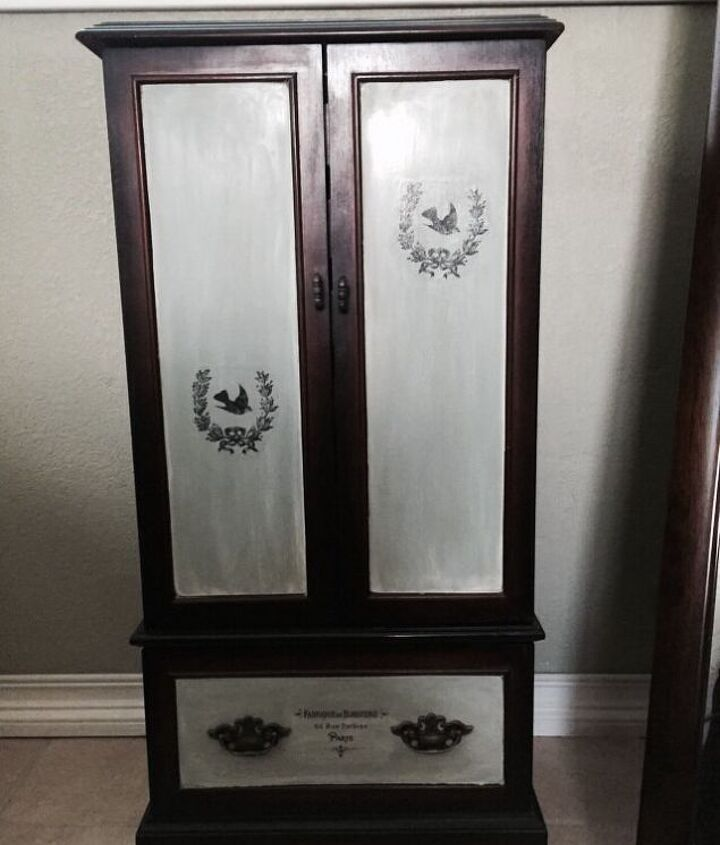jewelry armoire update, painted furniture