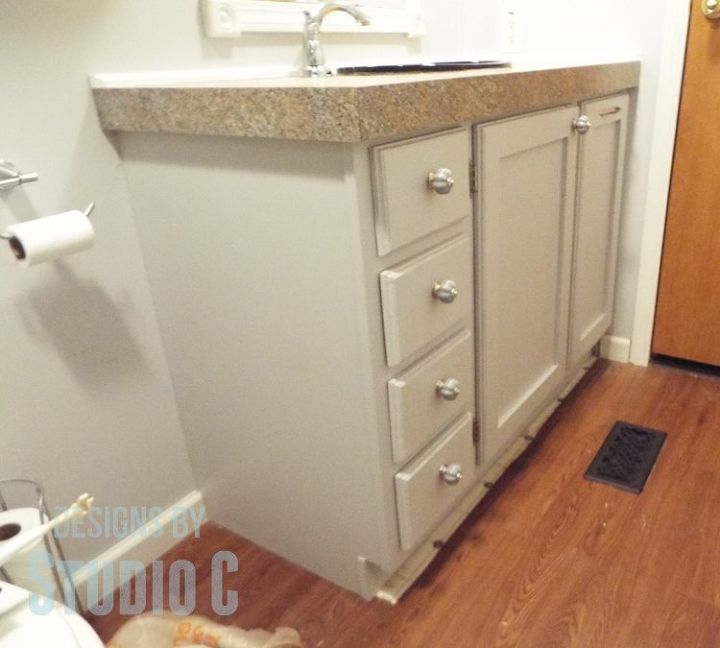 A Custom Built Bath Vanity With In Hamper Bathroom Ideas Diy