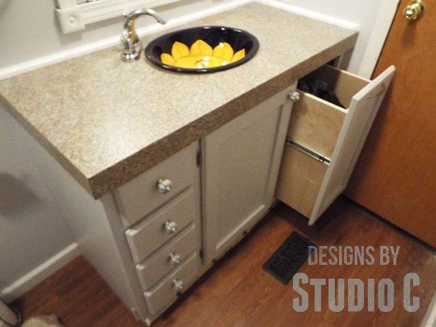 A Custom Built Bath Vanity With A BuiltIn Hamper Hometalk - Custom built bathroom vanity