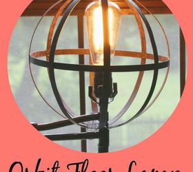 Land Of Nod Inspired Orbital Floor Lamp Diy, Diy, Lighting, Repurposing  Upcycling