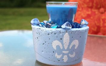 Easy Concrete Candle Holder