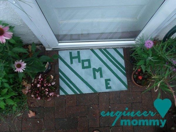 diy painted door mat, crafts