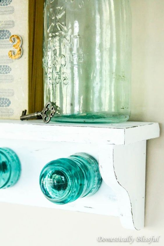 antique glass insulator coat rack shelf, home decor, repurposing upcycling, shabby chic, shelving ideas, wall decor