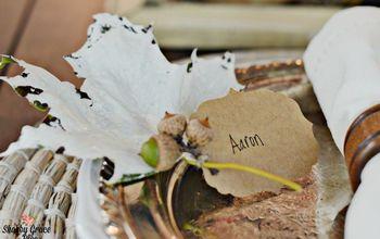 diy fall name cards, chalk paint, crafts, seasonal holiday decor