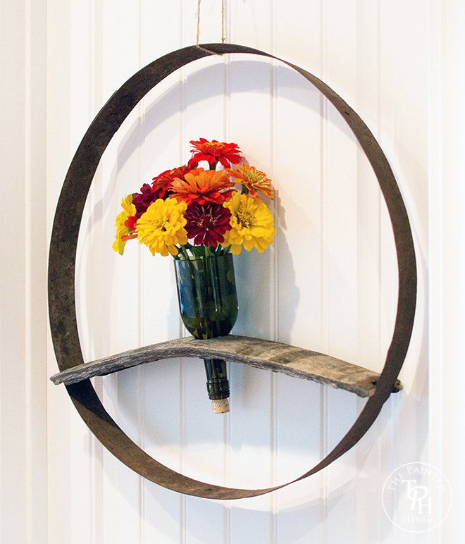 wine barrel and bottle wreath tutorial, crafts, repurposing upcycling, wall decor, wreaths