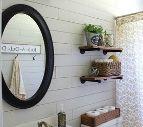 Diy Farmhouse Bathroom, Bathroom Ideas, Home Decor, Shelving Ideas, Small  Bathroom Ideas