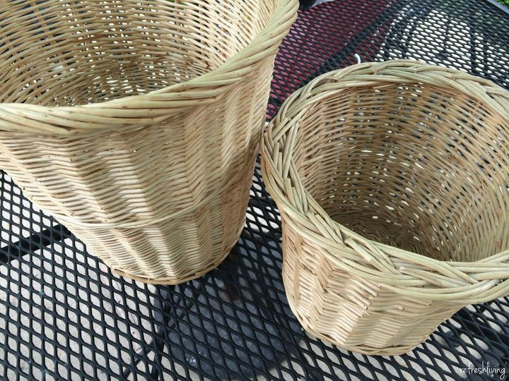Tiered Bathroom Storage From Old Baskets Ideas Crafts Repurposing Upcycling Small