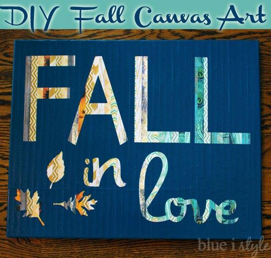 Fall In Love Canvas Art