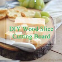 diy wood slice cutting board, crafts, woodworking projects