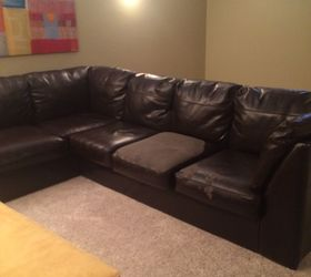 Q How To Salvage Leather Couch, Furniture Repair, Painted Furniture, Leather  Bi Cast