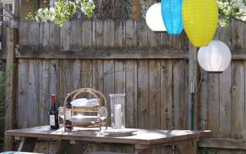 diy weathered wood picnic table, outdoor furniture, painted furniture
