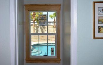 Super Easy DIY Craftsman Style Window Trim