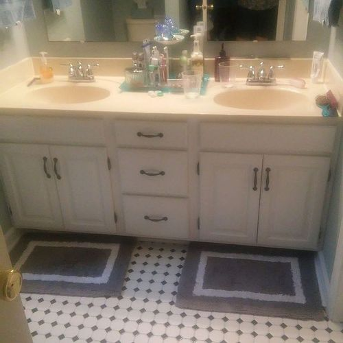 how to raise a bathroom vanity cabinet a bathroom vanity taller hometalk 17271