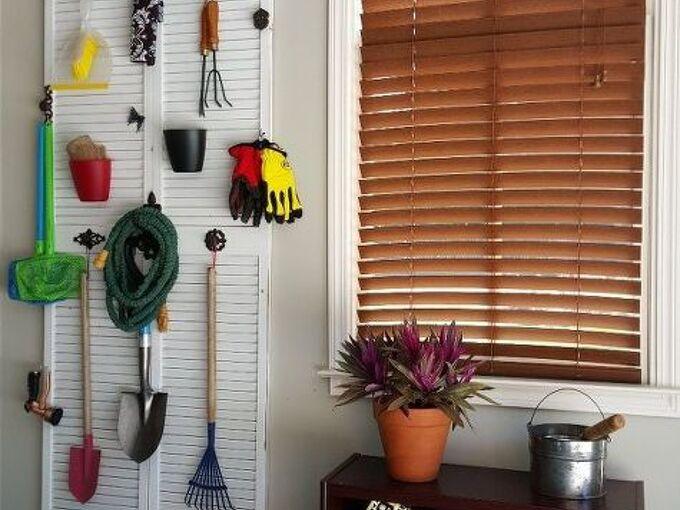 garden supply storage solution, garages, gardening, repurposing upcycling, storage ideas