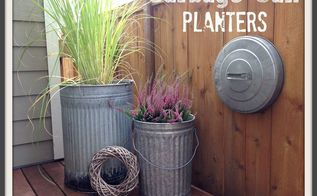 garbage can planters, container gardening, gardening, repurposing upcycling