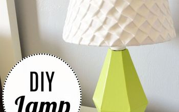 diy wood lamp, diy, lighting, woodworking projects