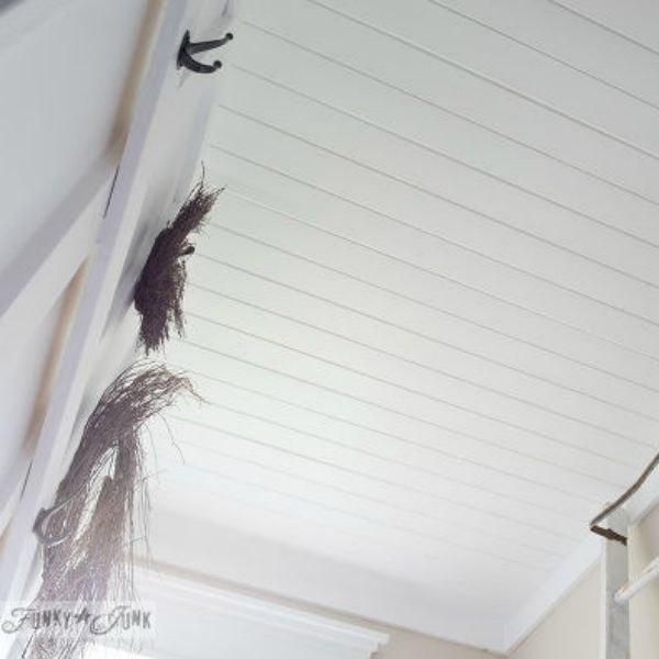 Inexpensive Plank Ceiling White