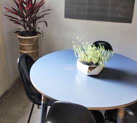 Wonderful My Metallic Blue Kitchen Table Transformation, Painted Furniture