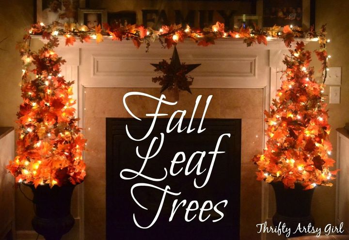 Easy Diy Fall Leaves Potted Topiary Tree From A Tomato