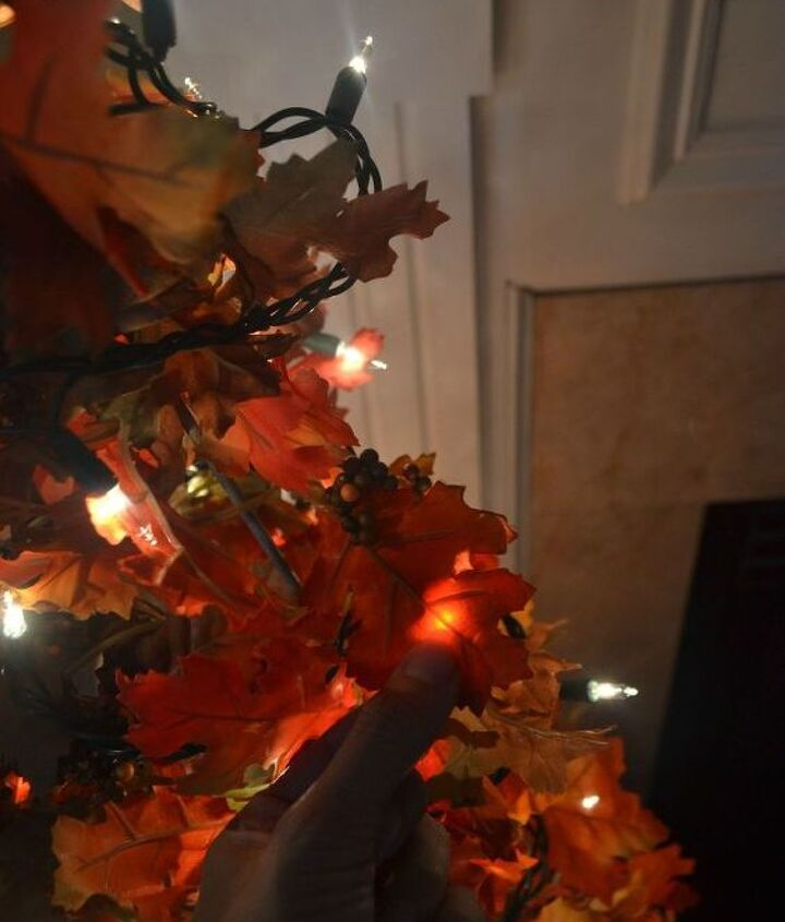 easy diy fall leaves potted topiary tree from a tomato cage, crafts, repurposing upcycling, seasonal holiday decor