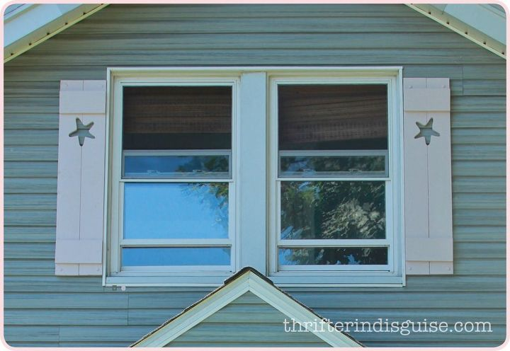 diy cape cod style starfish shutters, curb appeal, diy, woodworking projects