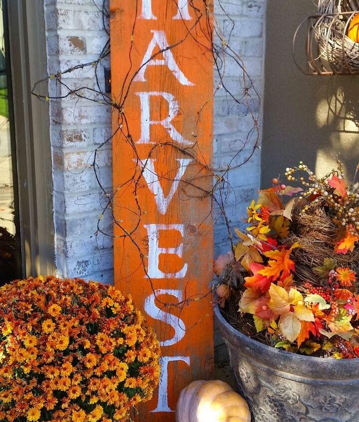 harvest barnwood sign for fall, crafts, seasonal holiday decor