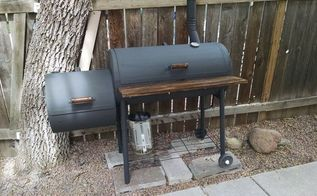 giving an old rusty smoker new life, outdoor living, repurposing upcycling