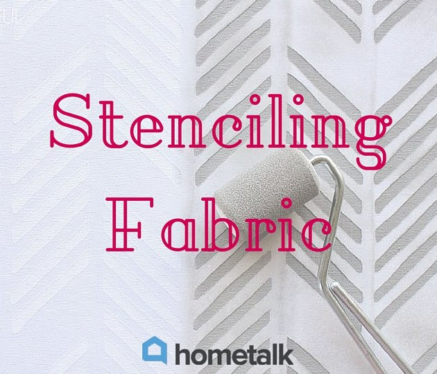 project guide stenciling fabric, crafts, how to, painting, reupholster