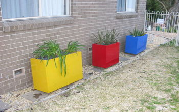 Painted File Cabinet Garden Planter in Sungold Yellow