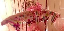 sweet simple baby shower hanger, crafts