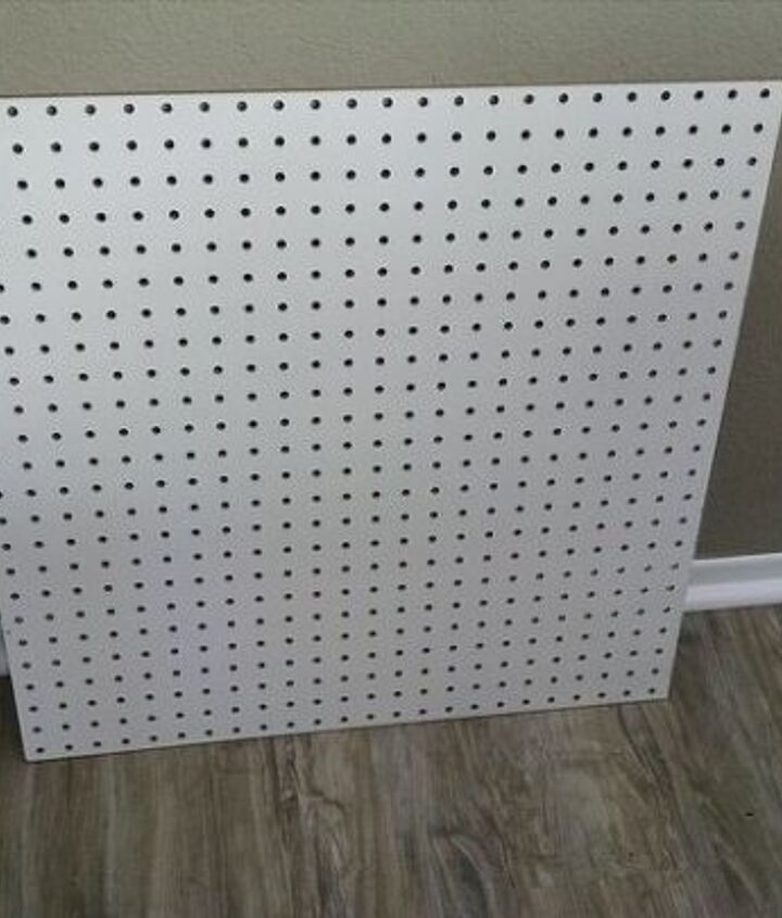 Unpainted pegboard cut to size
