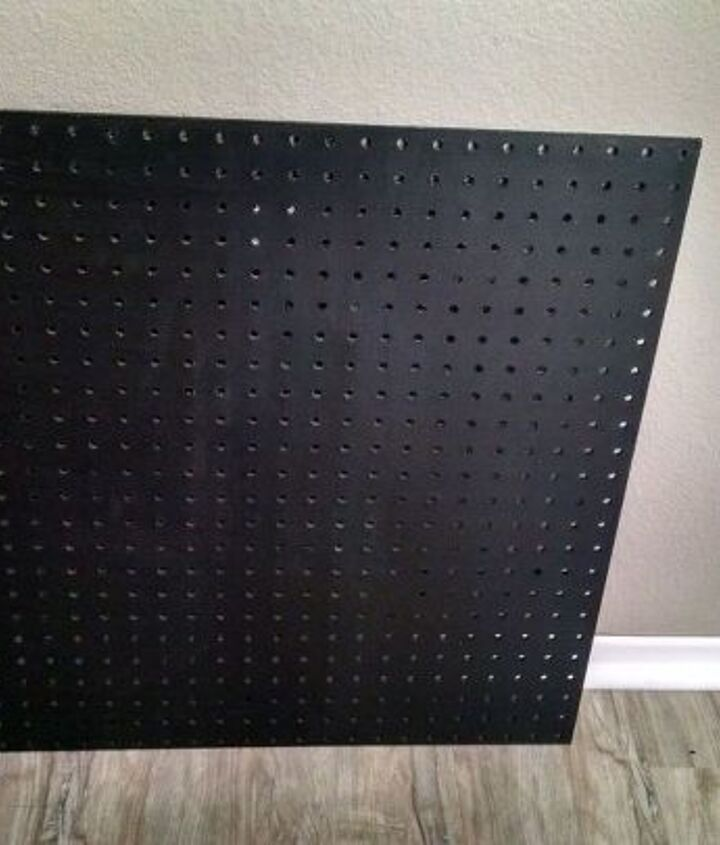 Painted pegboard background