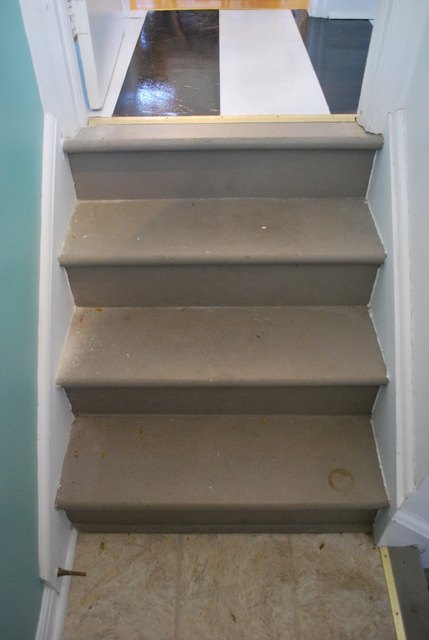 a diy stair runner using ikea rugs, diy, flooring, how to, stairs, reupholster