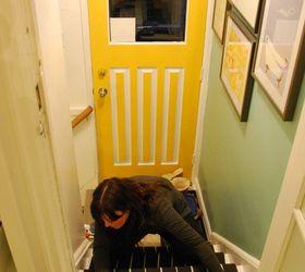 A Diy Stair Runner Using Ikea Rugs, Diy, Flooring, How To, Stairs