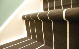 a diy stair runner using ikea rugs, diy, flooring, how to, stairs, reupholster