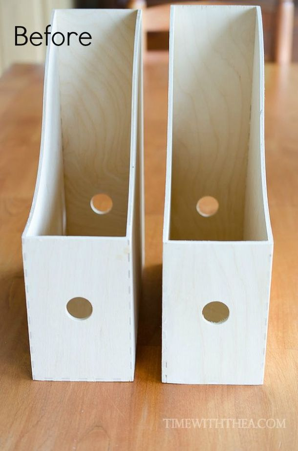 create a diy desktop printer shelf using ikea magazine file holders, craft  rooms, crafts