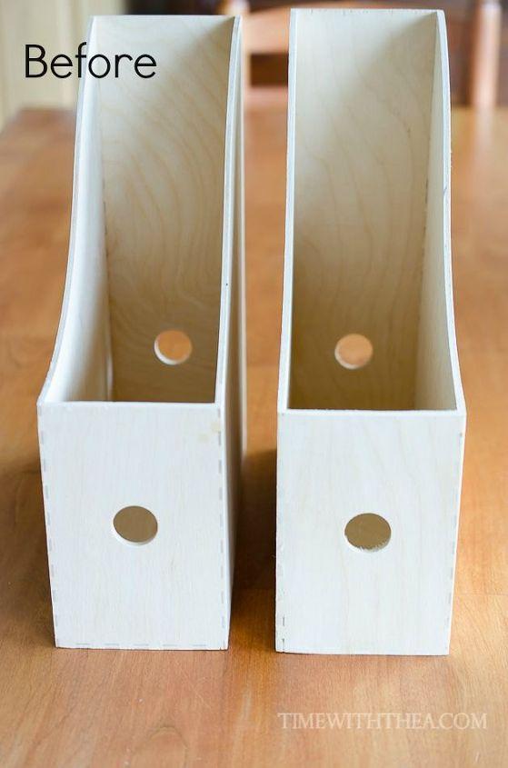 create a diy desktop printer shelf using ikea magazine file holders, craft rooms, crafts, home office, organizing
