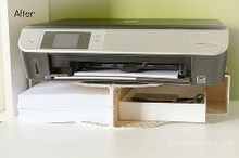 create a diy desktop printer shelf using ikea magazine file holders, craft rooms, crafts, home office, organizing