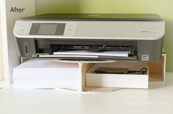 Create A Diy Desktop Printer Shelf Using Ikea File Holders Craft Rooms Crafts