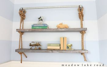 DIY Pipe and Rope Shelves