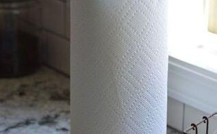 diy industrial paper towel holder, chalk paint, crafts