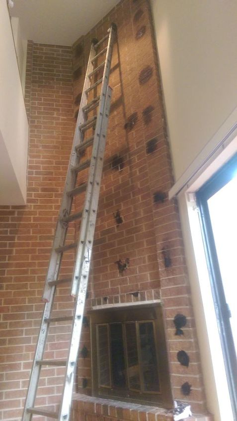 q how to remove black mastic stains from brick, cleaning tips, concrete masonry, house cleaning, After scraping for days