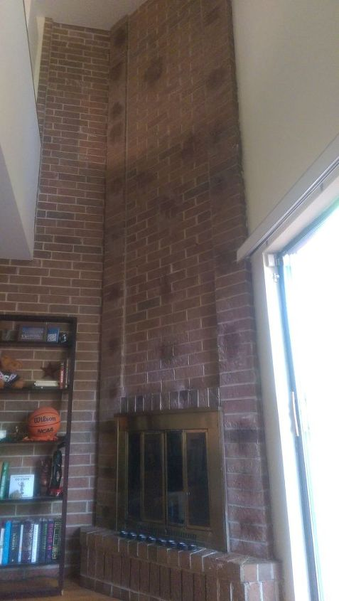 q how to remove black mastic stains from brick, cleaning tips, concrete masonry, house cleaning, All mastic removed and only stain remaining
